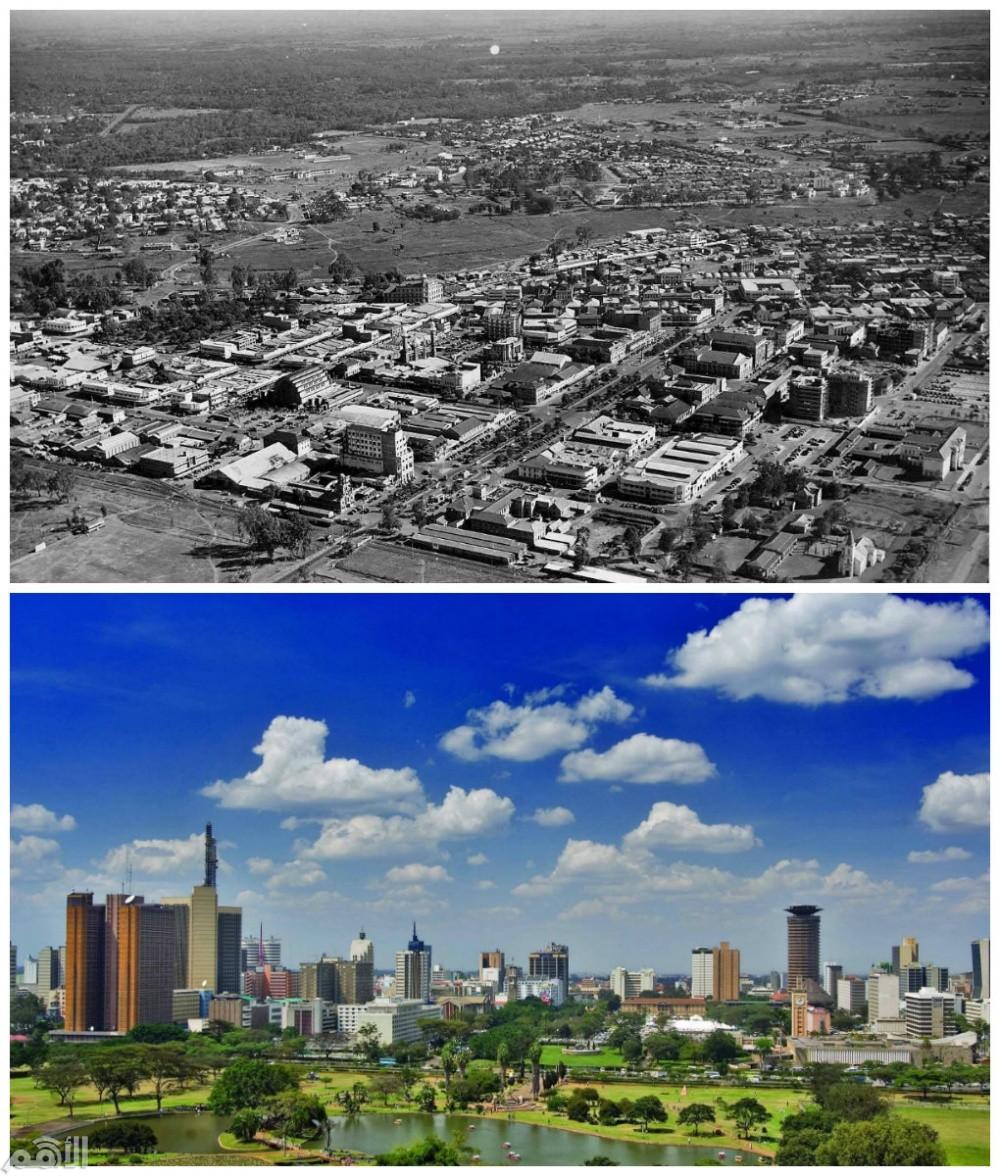 نيروبي , كينيا في عام 1960 والآن