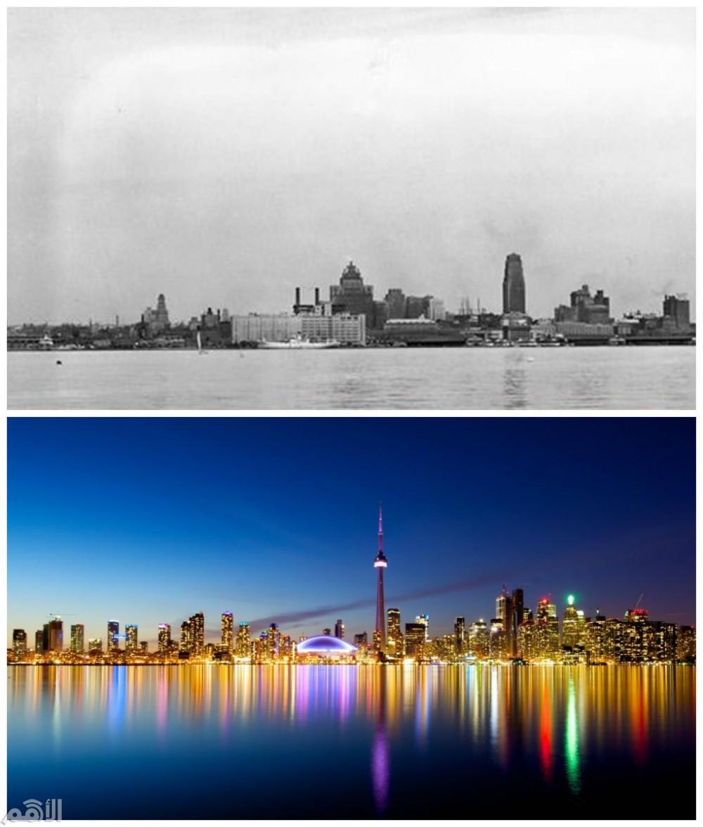 تورونتو , كندا في عام 1930 والآن