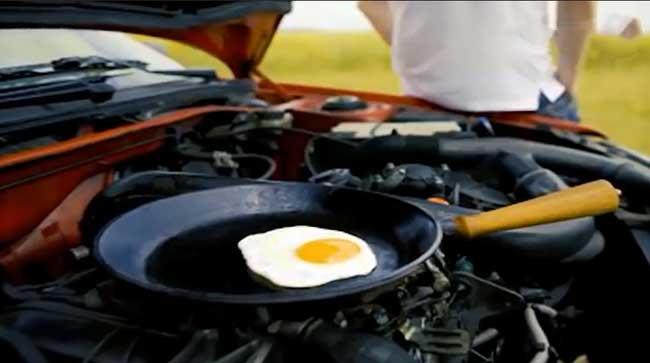 طهي الطعام بمحرك السيارة